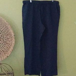 Charter Club Navy Linen Pants Sz 16P